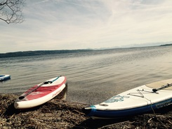 Utting am Ammersee paddle board spot in Germany