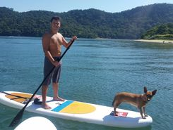 Saco do Céu sitio de stand up paddle / paddle surf en Brasil