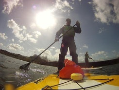 Cardiff Bay paddle board spot in United Kingdom