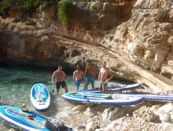 Secret spot sitio de stand up paddle / paddle surf en Grecia