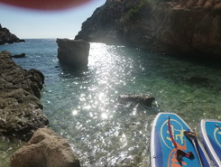 Secret spot paddle board spot in Greece