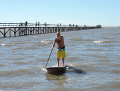 Laranjal Beach paddle board spot in Brazil