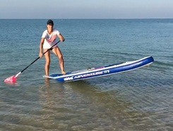 Qanat Qartier QSUP Base sitio de stand up paddle / paddle surf en Catar
