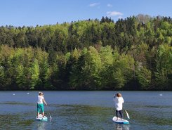 Zbilje lake sitio de stand up paddle / paddle surf en Eslovenia