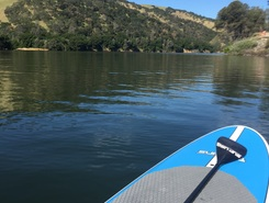 Lake Del Valle paddle board spot in United States