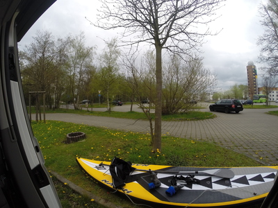 Irgendein strand paddle board spot in Germany
