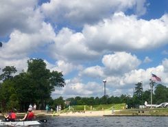 Lake Woodlands paddle board spot in United States