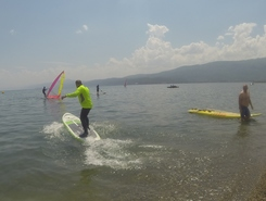 Mashka plaza paddle board spot in Macedonia