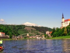 River Labe / Elbe paddle board spot in Czech Republic