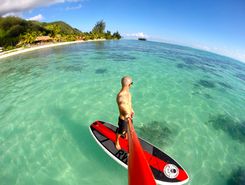 Moorea paddle board spot in French Polynesia