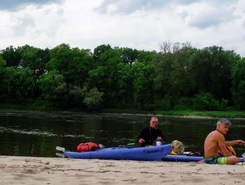 River Elbe paddle board spot in Germany