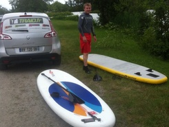 base nautique de la blanche spot de stand up paddle en France