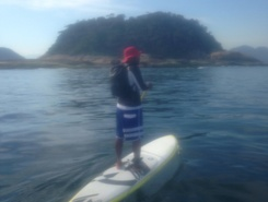 Ilha paddle board spot in Brazil