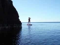 Cala Sapone paddle board spot in Italy