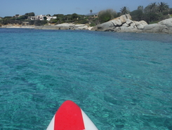 Cala Caterina spot de stand up paddle en Italie