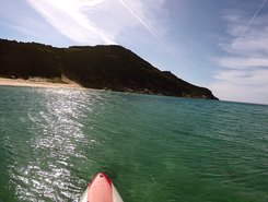 Solanas paddle board spot in Italy