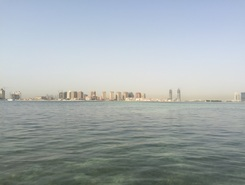 Qanat Qartier QSUP Base spot de stand up paddle en Qatar