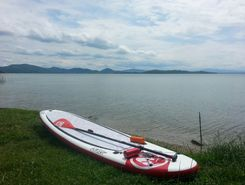 Monte del Lago paddle board spot in Italy