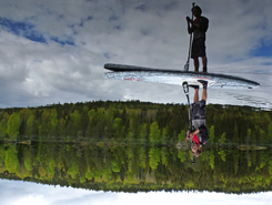 Nöklevann paddle board spot in Norway