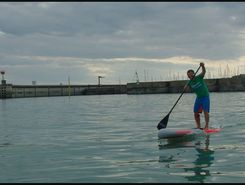 Granville paddle board spot in France
