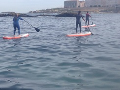 Oza paddle board spot in Spain