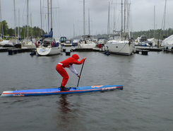 Fornebu paddle board spot in Norway