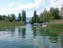 St. Peterinsel paddle board spot in Switzerland