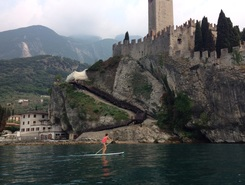 Teo paddle board spot in Italy