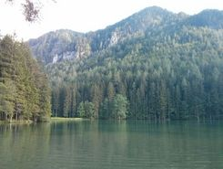 Jezersko Lake paddle board spot in Slovenia