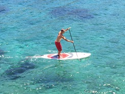 Sant Antoni de Portmany paddle board spot in Spain