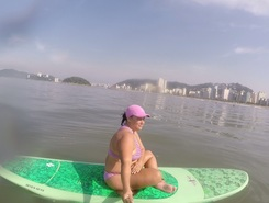 Praia de Santos paddle board spot in Brazil