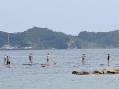 Kushihama sitio de stand up paddle / paddle surf en Japón