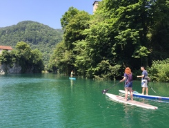 The Soča River sitio de stand up paddle / paddle surf en Eslovenia