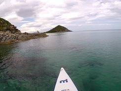 Cala Sinzias paddle board spot in Italy
