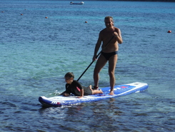 Cala Pira paddle board spot in Italy