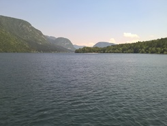 Lake Bohinj, Camp Zlatorog paddle board spot in Slovenia