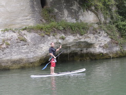 La Sarine paddle board spot in Switzerland