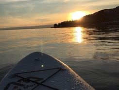 Lake Geneva paddle board spot in Switzerland