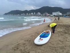 송정해수욕장 spot de stand up paddle en Corée du Sud