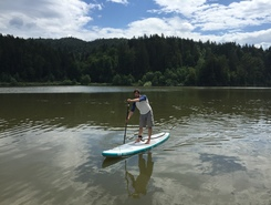 Lake Gradiško spot de stand up paddle en Slovénie