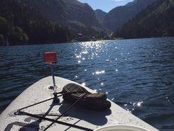 Lac Taney paddle board spot in Switzerland