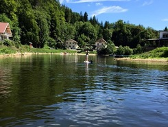 Doubs river paddle board spot in France