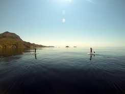Isla de las Palomas paddle board spot in Spain