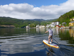 Ulvikafjorden paddle board spot in Norway