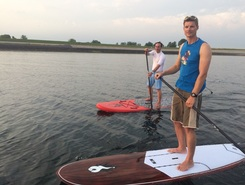 Bergse diepsluis paddle board spot in Netherlands