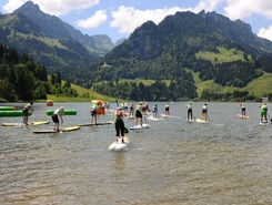 Schwarzsee paddle board spot in Switzerland
