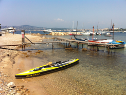 Plage des Ondes, Cap d'Antibes spot de stand up paddle en France