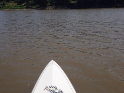 Red river  spot de stand up paddle en Canada