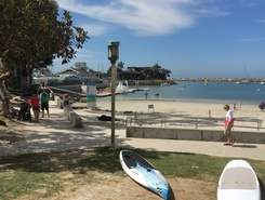 Baby Beach, Dana Point Harbor paddle board spot in United States