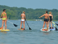 Crooked Lake spot de stand up paddle en États-Unis